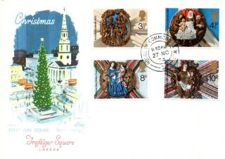27 November 1974 Christmas Philart First Day Cover House Of Commons Sw1 Cds photo