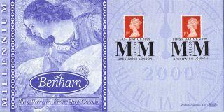 1999/2000 Millennium Dual Stamped Benham First Day Cover Dual Shss photo