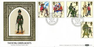 6 July 1983 British Army Benham Bls 4 Green Jackets First Day Cover Bfpo 1800 photo