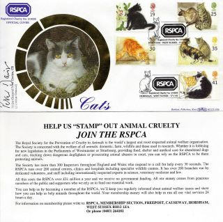 1995 Cats Benham Signed By Dir General First Day Cover Better Rspca Horsham Shs photo