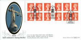 29 January 2001 £3.  24 Nvi Booklet Pane Cylinder Benham D 365 Fdc London Sw1 Shs photo