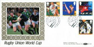 11 June 1991 Sport Benham Blcs 65 First Day Cover Rfu Celebrates Grand Slam Shs photo