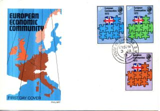 3 January 1973 Eec Elections Philart First Day Cover House Of Commons Cds photo