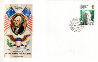 2 June 1976 American Bicentenary Philart First Day Cover House Of Commons Sw1 Cd photo