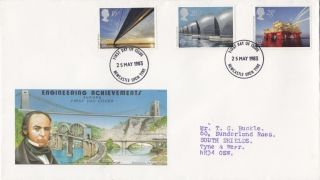 1983 Engineering Achievements Philart First Day Cover Newcastle Upon Tyne Fdi photo