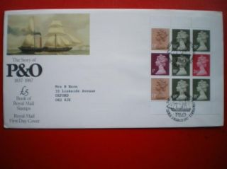 Cover 1987 Story Of P&o Minisheet Fdc photo