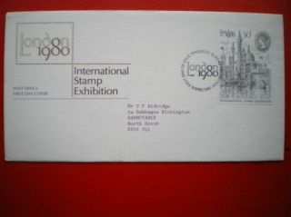 Cover 1980 International Stamp Exhib Fdc photo