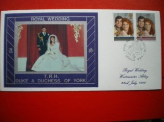Cover 1986 Royal Wedding Andrew Fdc photo