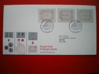 Cover 1984 Royal Mail Postage Labels Fdc photo