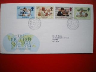 Cover 1984 The British Council Fdc photo