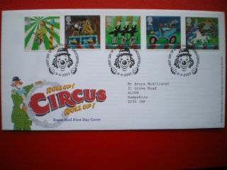 Cover 2002 Circus Fdc photo