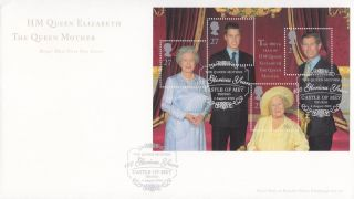 2000 Queen Mothers 100th Minisheet Fdc Castle Of Mey Thurso Shs photo