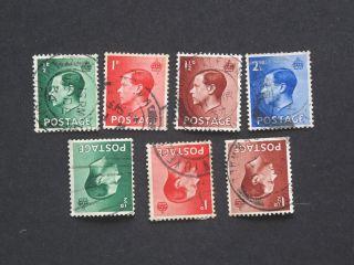 623 Edward Viii Complete Definitive Inc Inverted Watrmrks Sg457 - 60 + 457 - 9 photo