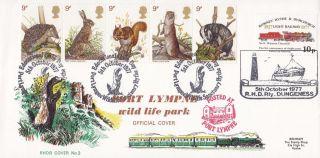 1977 British Wildlife Official Fdc Port Lympne Wildlife Park Shs Rhdr No3 photo