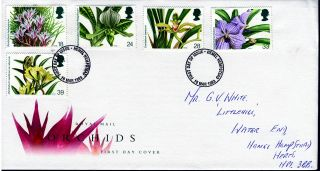 1993 14th World Orchid Conference,  Glasgow.  Hamel Hempstead Postmark Fdc photo