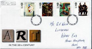 1993 Contemporary Art.  Hamel Hempstead Postmark Fdc photo