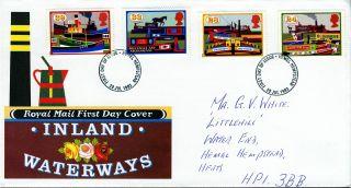 1993 Inland Waterways.  Hamel Hempstead Postmark Fdc photo