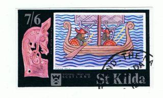St Kilda 1972 Viking Ship Mini - Sheet photo