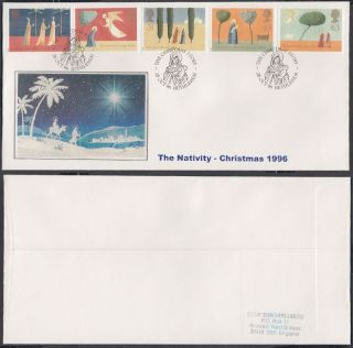 1996 Christmas Scarce Stamp Searchers Fdc; The Christmas Story Bethlemhem Shs photo
