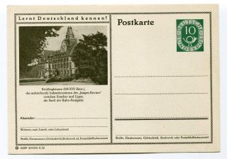 Germany Brd 1953 Lernt Deutschland Kennen Recklinghausen Postcard photo