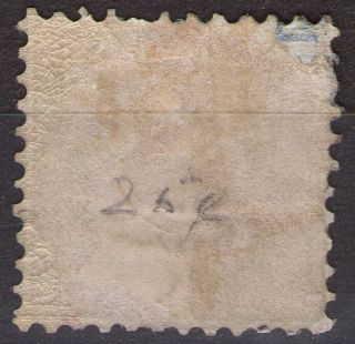 Wurttemberg German States Cv £250 Sg 56 Black Cancel 23/june 1865 photo
