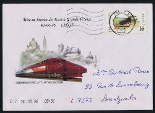 Belgium 1606 On Cover,  Insects,  Train On Cachet photo