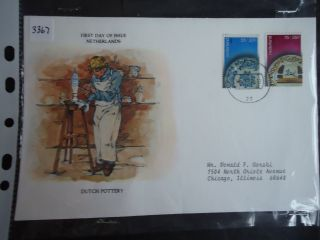 Netherlands 1978 First Day Cover Pottery (55+20c And 75+25c) photo