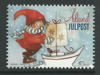 Finland Aland 2012 - Sea - Inspired Christmas Cartoon Children Art - photo
