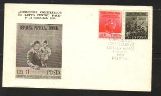 1950 - Struggle For Peace - Fdc photo