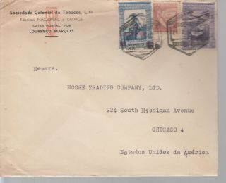 1946 Mozambique Tobacco Company Cover To Usa photo