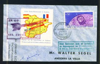 Andorra,  Space,  Tellstar,  1962,  S.  C.  154 On Fdc,  Rare photo
