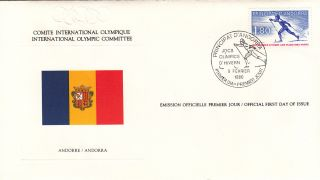 (15641) Fdc Ioc Olympic Games - Andorra 1980 photo