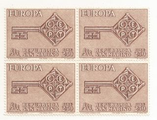 San Marino 687,  Europa 1968 Block Of Four,  (cv=$3) photo