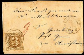 German State Of Thurn And Taxis - Cover - Michel 31 - 3 Good Margins photo