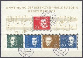 Germany,  Rep.  Fed. ,  Beethoven/composers,  Sheetlet photo