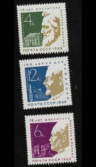 Russia,  Ussr,  1963,  Sc 2803 - 2805, .  Si1268 photo
