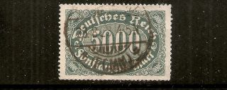 Germany - Inflation Era (expertised) 5000mk (mi 256b / Sc 208) Cv 2.  00euro photo