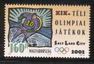 Hungary - 2002.  Winter Olympic Games,  Salt Lake City / Ice Hockey Mi 4701. photo