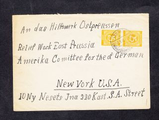 Germany Deutschland 1948 Cover To Hilfswerk Ostpreussen In The Usa photo
