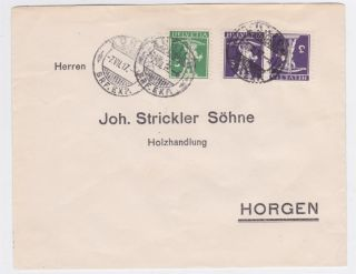 Switzerland 1914 Tete Beche Pair On Cover photo