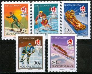 Hungary - 1991.  Winter Olympics,  Albertville (sport,  Ski,  Hockey) Mi 4175 - 4179 photo