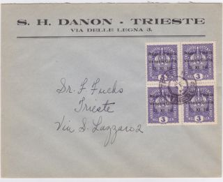 Italy Venezia Giulia Trieste 1918 Overprint Cover photo