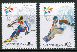 Hungary - 1998.  Winter Olympic Games,  Nagano (sport,  Ski) Cpl.  Setmnh Mi 4476 - 4477 photo