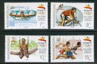 Hungary - 1992.  Summer Olympics,  Barcelona (sport) Mi 4184 - 4187. photo