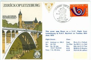 Luxembourg,  Special Cover R.  A.  F.  Escaping Society 1973 photo