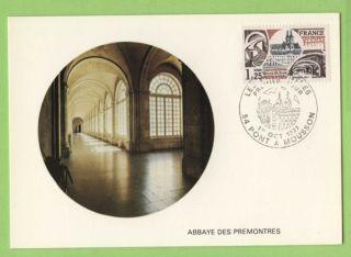 France 1977 Premontres Abbey Maximum Card,  Fdi photo
