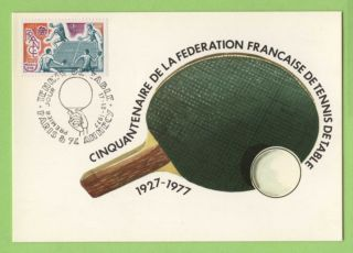 France 1977 Table Tenis Maximum Card,  Fdi photo