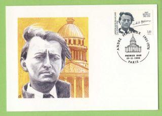 France 1996 20th Death Anniv Of Andre Malraux Maximum Card,  Fdi photo