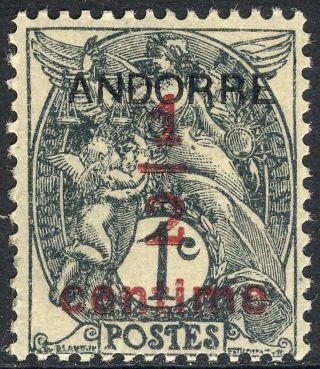 1931 Andorra,  French P1, ,  Vg,  Scott Cv $1.  25 photo