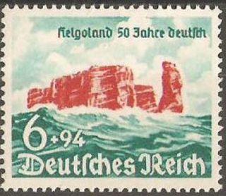 Postage Germany Rocky Cliffs Of Heligoland Sc.  176 Vf photo